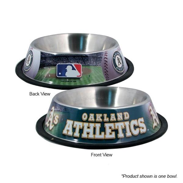 Oakland A's Stainless Steel Pet Bowl - staygoldendoodle.com
