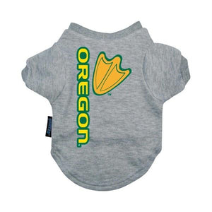 Oregon Ducks Heather Grey Pet T-Shirt - staygoldendoodle.com