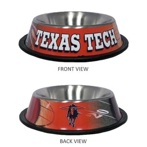 Texas Tech Stainless Steel Pet Bowl - staygoldendoodle.com