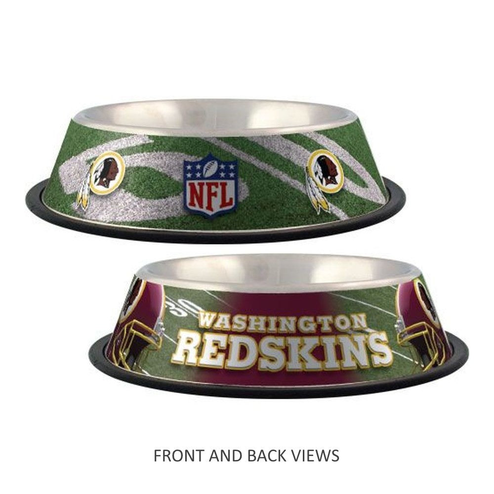 Washington Redskins Stainless Steel Pet Bowl - staygoldendoodle.com