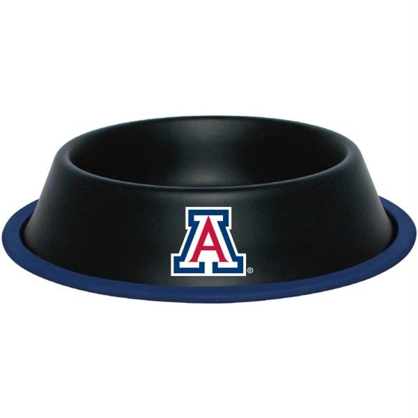 Arizona Wildcats Gloss Black Pet Bowl - staygoldendoodle.com