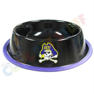 East Carolina Pirates Gloss Black Pet Bowl - staygoldendoodle.com