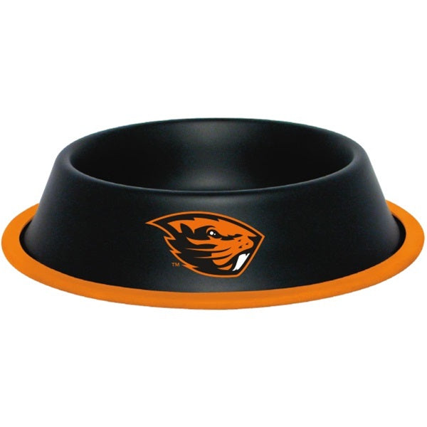 Oregon State Beavers Gloss Black Pet Bowl - staygoldendoodle.com