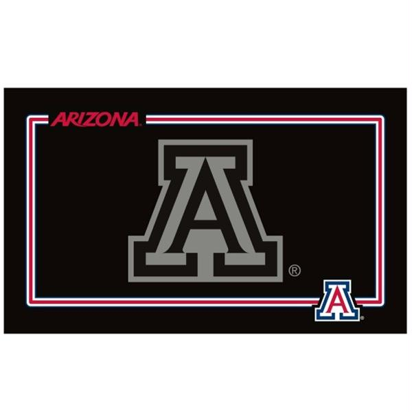 Arizona Wildcats Black Pet Bowl Mat - staygoldendoodle.com