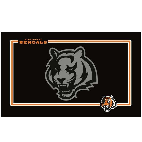 Cincinnati Bengals Black Pet Bowl Mat - staygoldendoodle.com