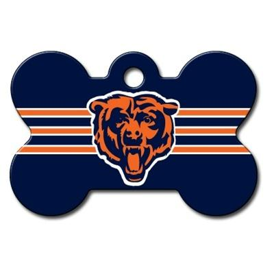 Chicago Bears Bone ID Tag - staygoldendoodle.com