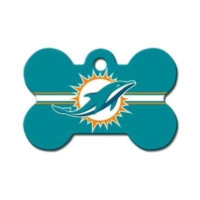 Miami Dolphins Bone ID Tag - staygoldendoodle.com