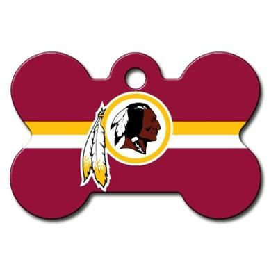 Washington Redskins Bone ID Tag - staygoldendoodle.com