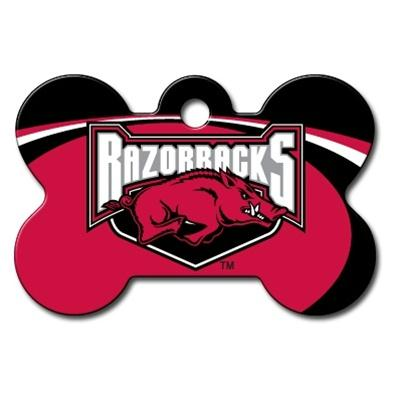 Arkansas Razorbacks Bone ID Tag - staygoldendoodle.com