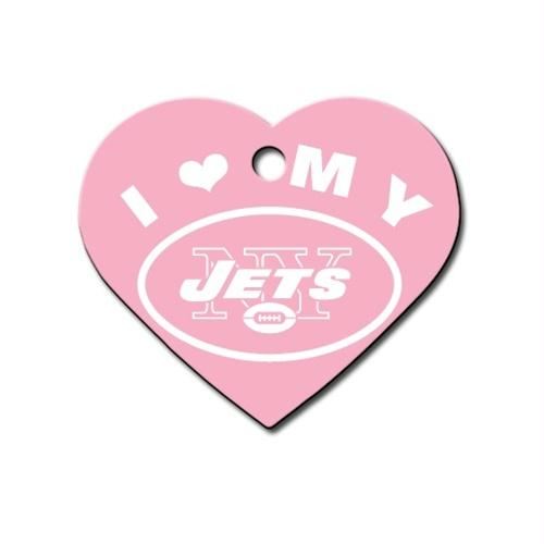 New York Jets Heart ID Tag - staygoldendoodle.com