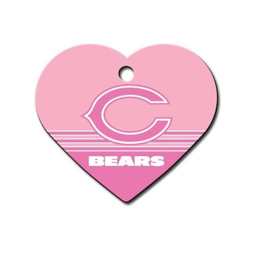 Chicago Bears Heart ID Tag - staygoldendoodle.com