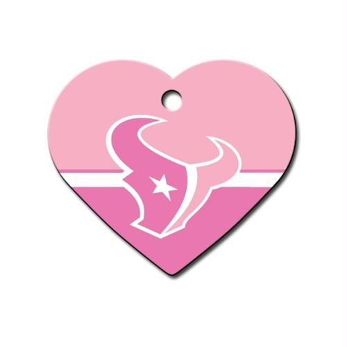 Houston Texans Heart ID Tag - staygoldendoodle.com
