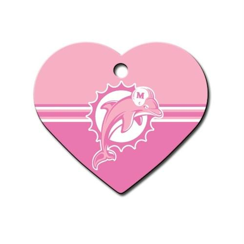 Miami Dolphins Heart ID Tag - staygoldendoodle.com