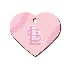 St. Louis Cardinals Heart ID Tag - staygoldendoodle.com