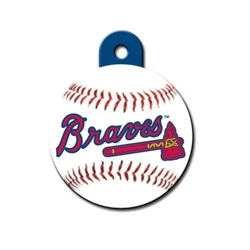Atlanta Braves Circle ID Tag - staygoldendoodle.com