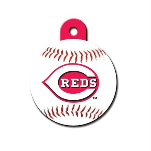 Cincinnati Reds Circle ID Tag - staygoldendoodle.com