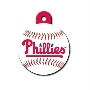 Philadelphia Phillies Circle ID Tag - staygoldendoodle.com