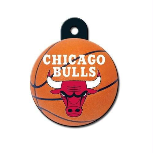 Chicago Bulls Circle ID Tag - staygoldendoodle.com