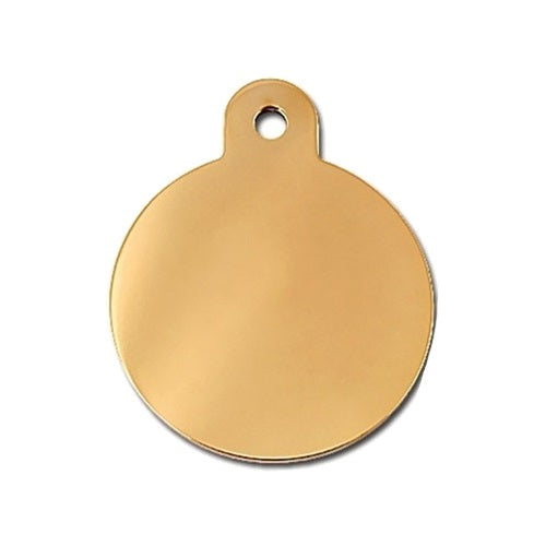 Large Polished Circle ID Tag - staygoldendoodle.com