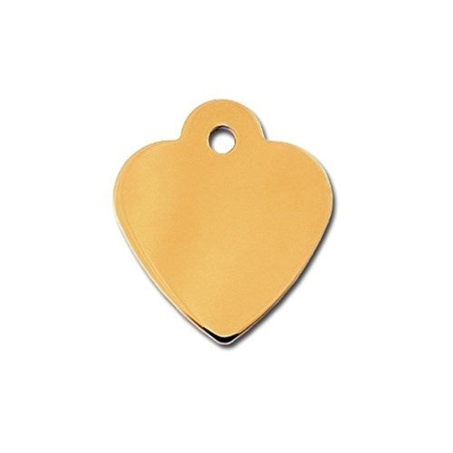 Small Polished Heart ID Tag - staygoldendoodle.com