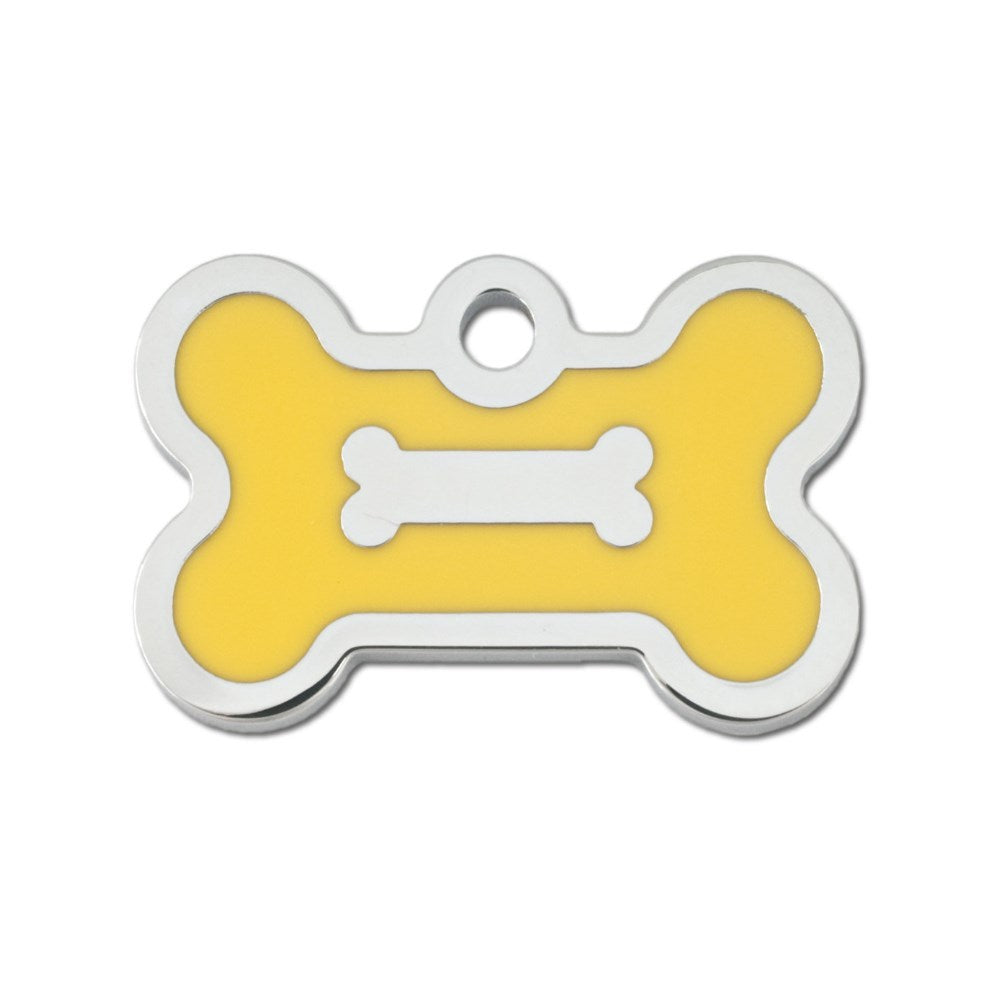 Small Epoxy Filled Bone ID Tag - staygoldendoodle.com