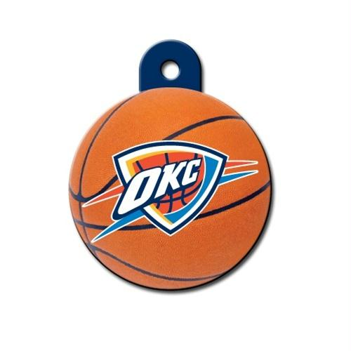 Oklahoma City Thunder Circle ID Tag - staygoldendoodle.com