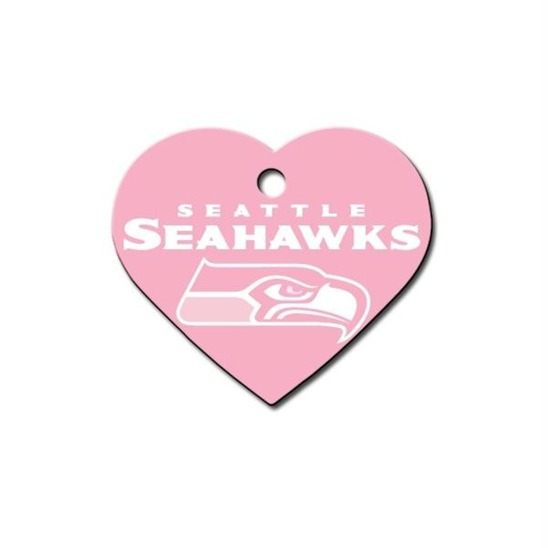 Seattle Seahawks Heart ID Tag - staygoldendoodle.com