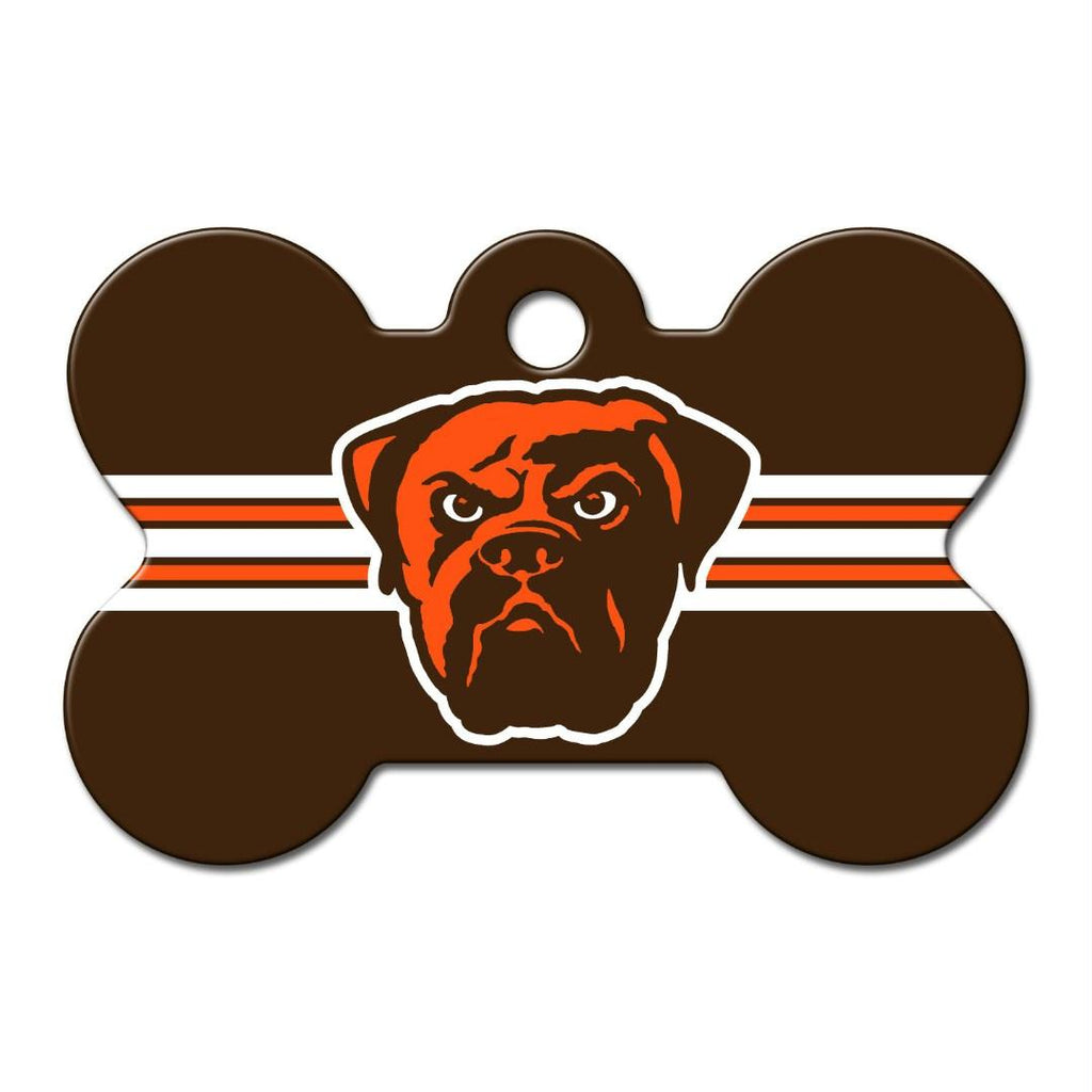 Cleveland Browns Bone ID Tag - staygoldendoodle.com