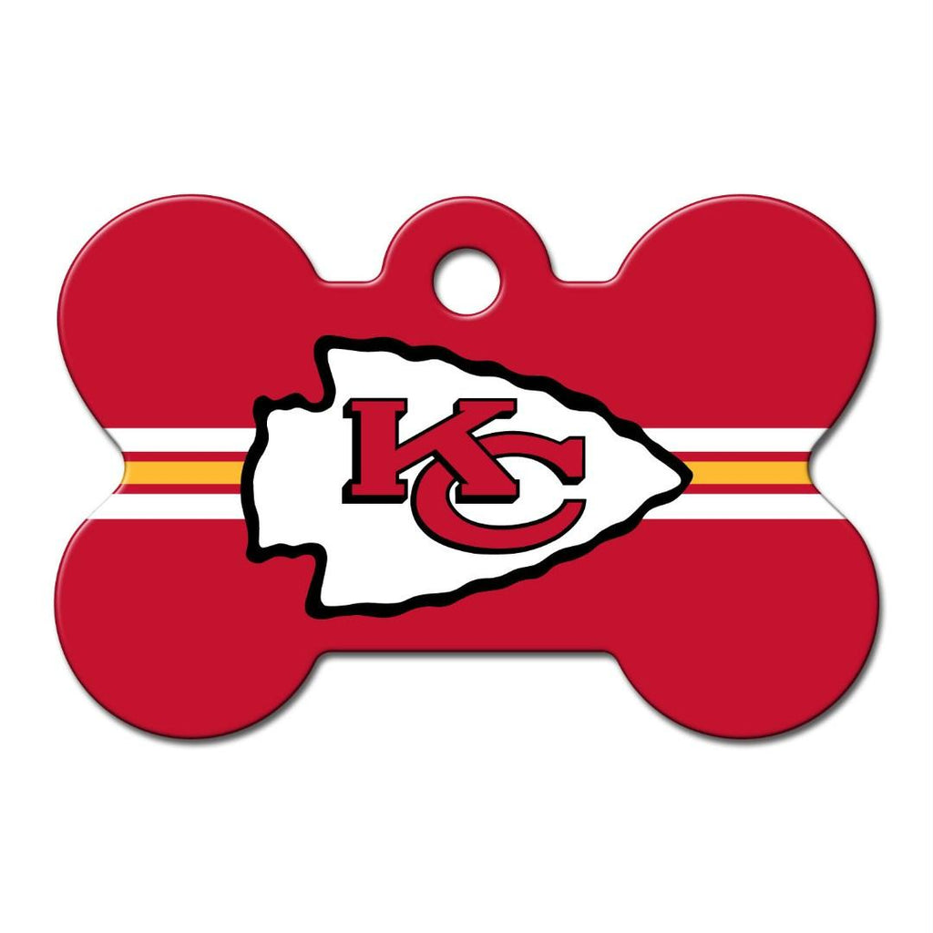 Kansas City Chiefs Bone ID Tag - staygoldendoodle.com