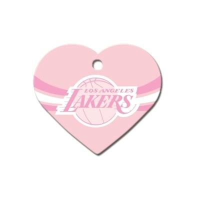 Los Angeles Lakers Heart ID Tag - staygoldendoodle.com