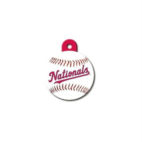 Washington Nationals Circle ID Tag - staygoldendoodle.com