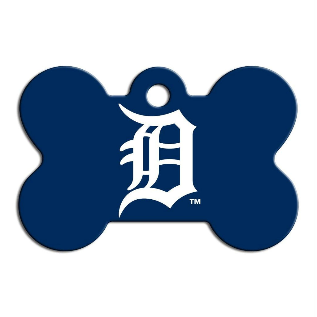 Detroit Tigers Bone ID Tag - staygoldendoodle.com