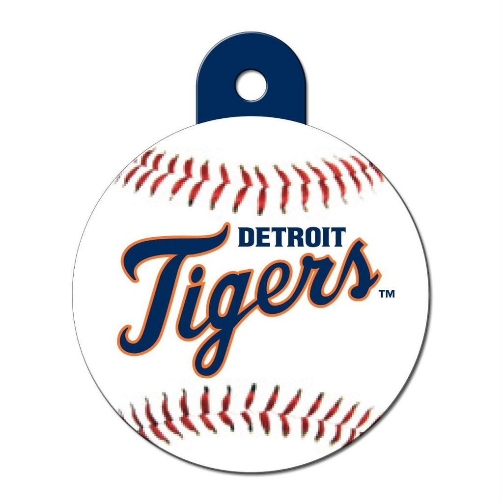 Detroit Tigers Circle ID Tag - staygoldendoodle.com