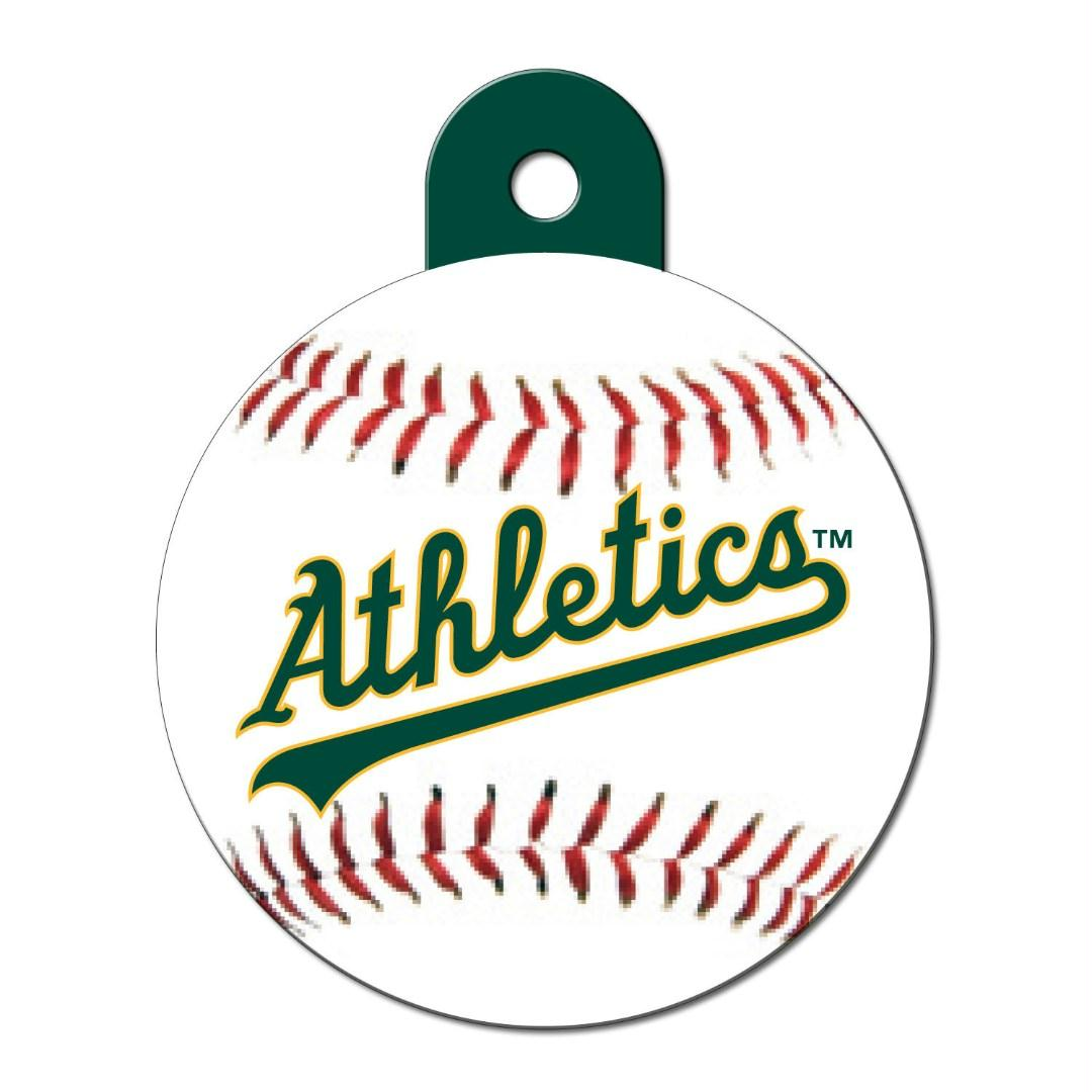 Oakland A's Circle ID Tag - staygoldendoodle.com
