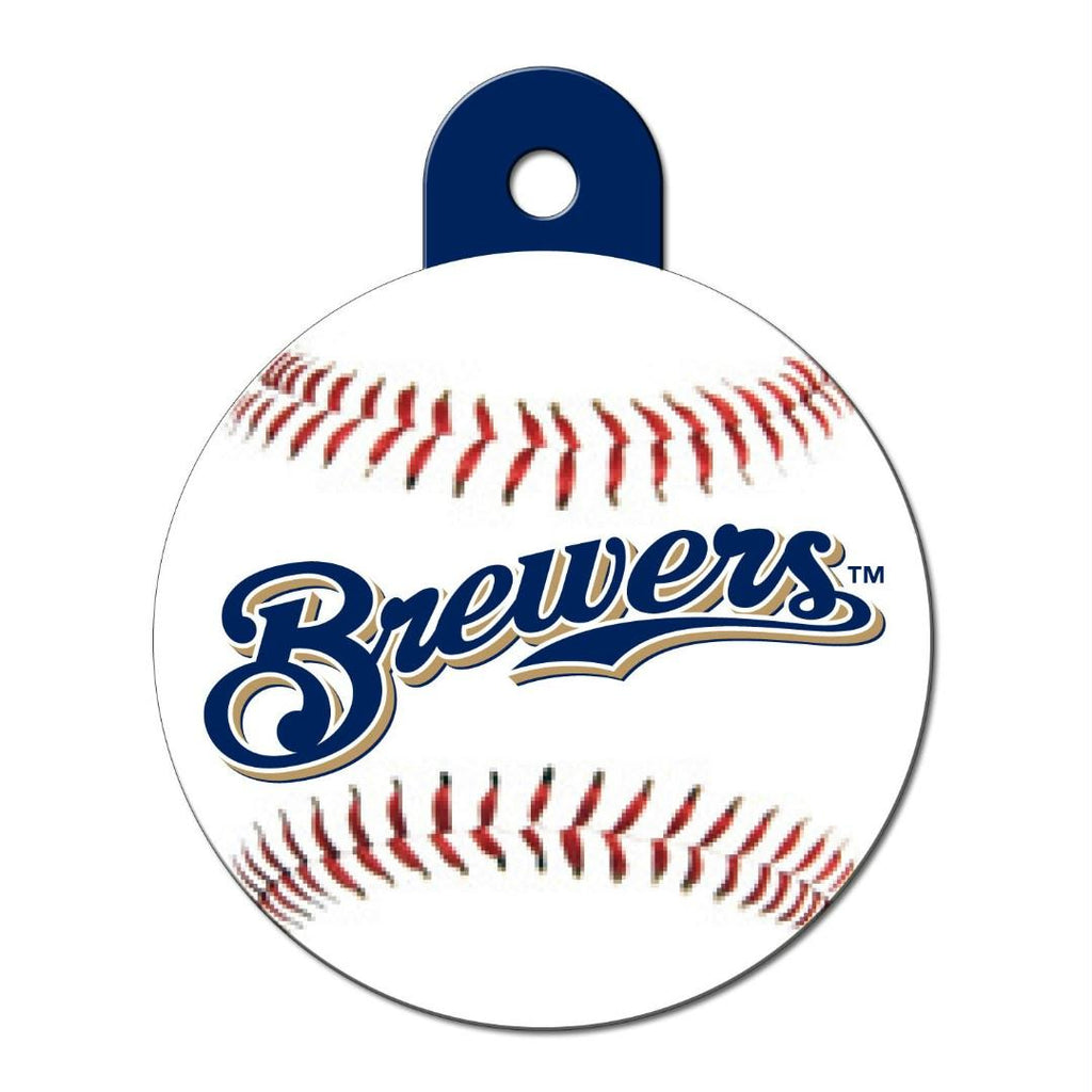 Milwaukee Brewers Circle ID Tag - staygoldendoodle.com