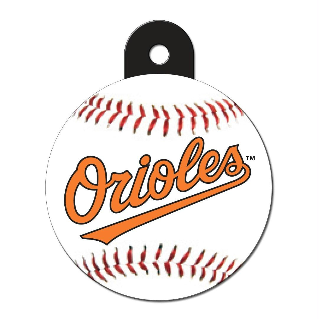 Baltimore Orioles Circle ID Tag - staygoldendoodle.com