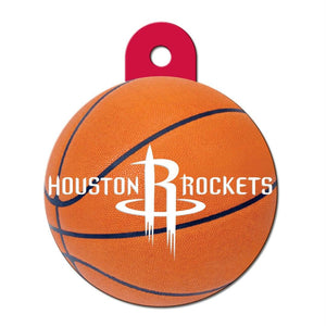 Houston Rockets Circle ID Tag - staygoldendoodle.com