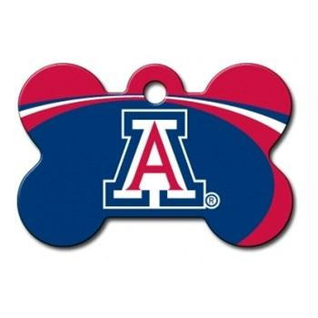 Arizona Wildcats Bone ID Tag - staygoldendoodle.com