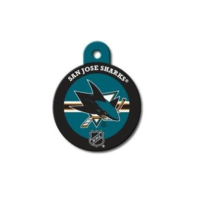 San Jose Sharks Large Circle ID Tag - staygoldendoodle.com