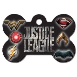 Justice League Large Bone ID Tag - staygoldendoodle.com