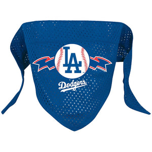 The officially licensed Los Angeles Dodgers Mesh Pet Bandana fea - staygoldendoodle.com