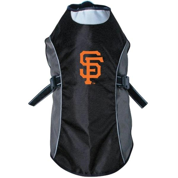 San Francisco Giants Water Resistant Reflective Pet Jacket - staygoldendoodle.com