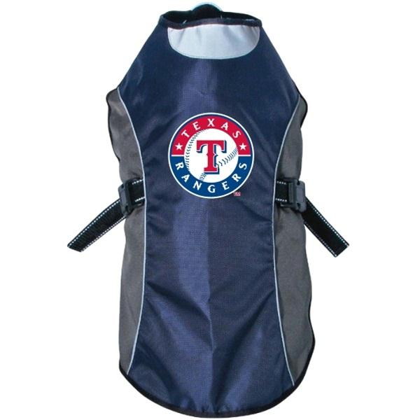 Texas Rangers Water Resistant Reflective Pet Jacket - staygoldendoodle.com