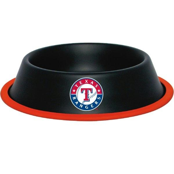Texas Rangers Gloss Black Pet Bowl - staygoldendoodle.com