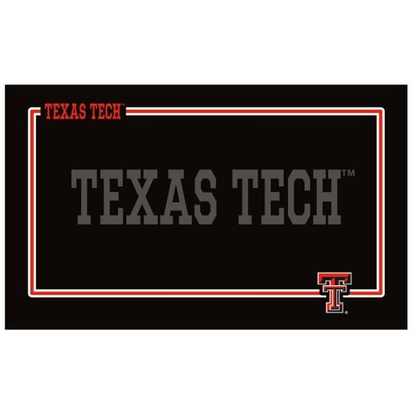 Texas Tech Red Raiders Black Pet Bowl Mat - staygoldendoodle.com