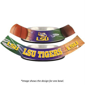 LSU Tigers Dog Bowl - staygoldendoodle.com