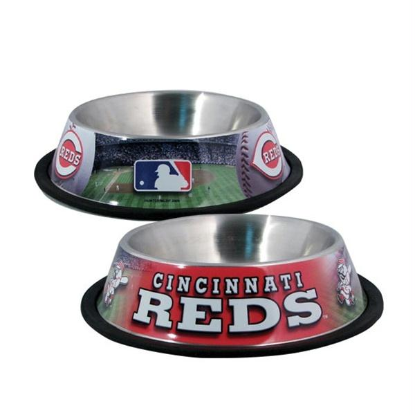 Cincinnati Reds Dog Bowl - staygoldendoodle.com