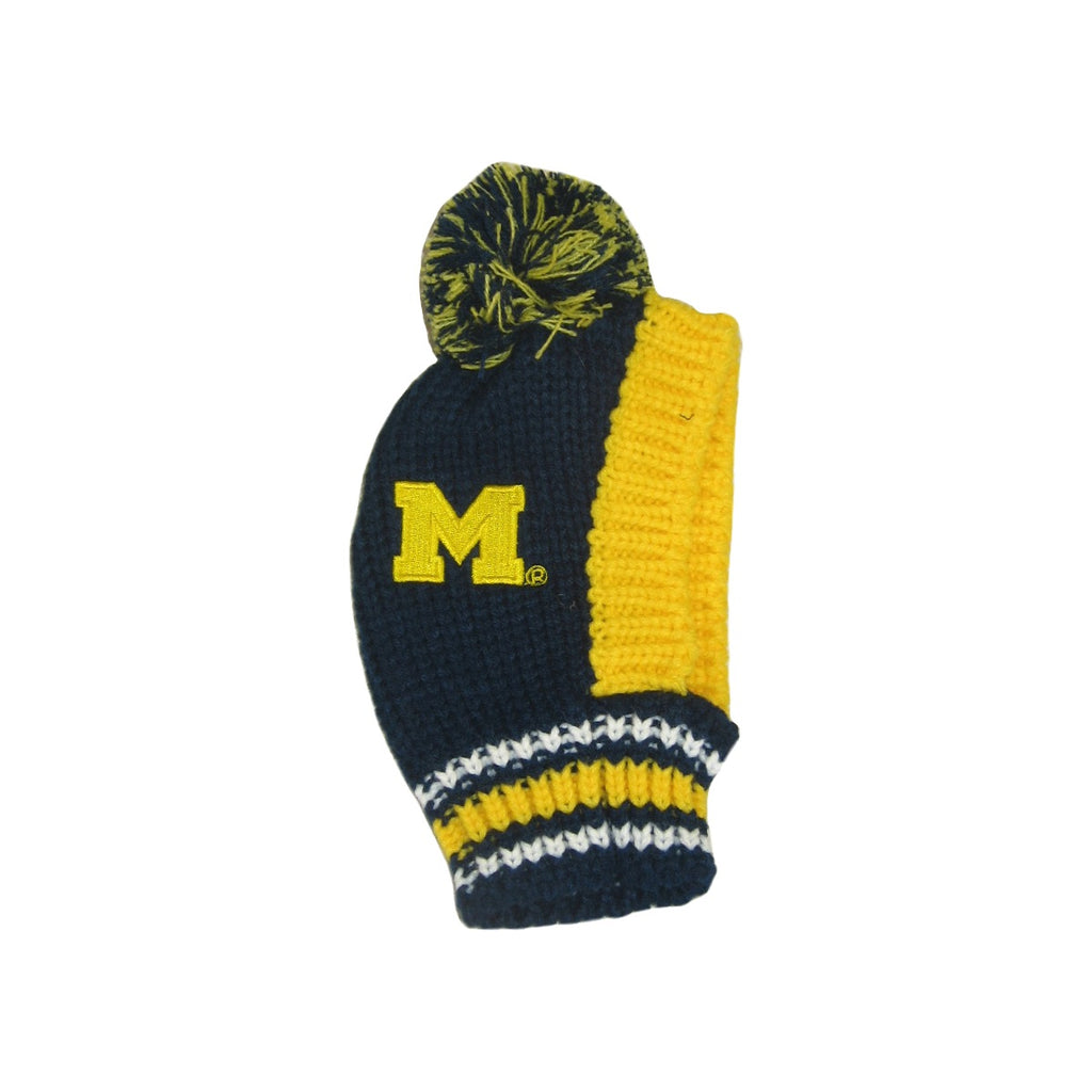 Michigan Wolverines Pet Knit Hat - staygoldendoodle.com