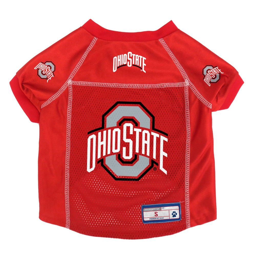 Ohio State Buckeyes Pet Mesh Jersey - staygoldendoodle.com