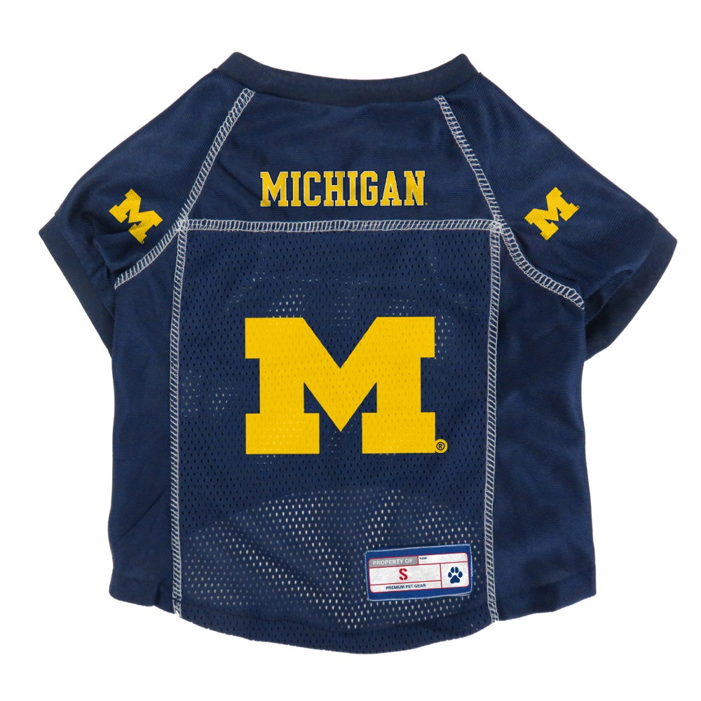 Michigan Wolverines Pet Mesh Jersey - staygoldendoodle.com
